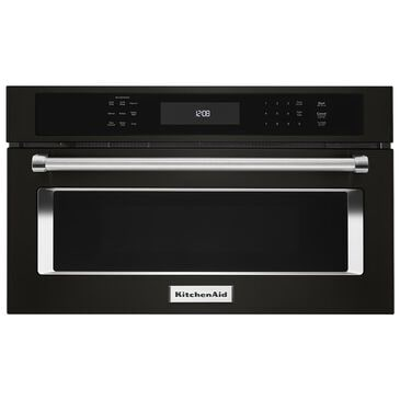 """KitchenAid 27"""" Built-In Microwave Oven with Convection Cooking in Black Stainless, , large"""