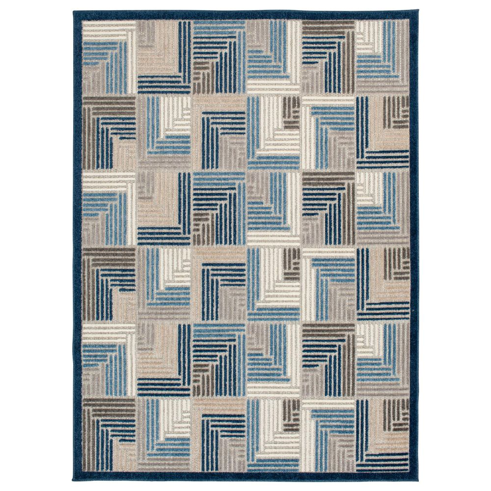 """Central Oriental Fontana Haldis 1654.61 2'2"""" x 7'6"""" Gray and Blue Runner, , large"""