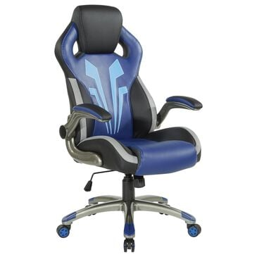 OSP Home Ice Knight Gaming Chair in Black and Blue, , large