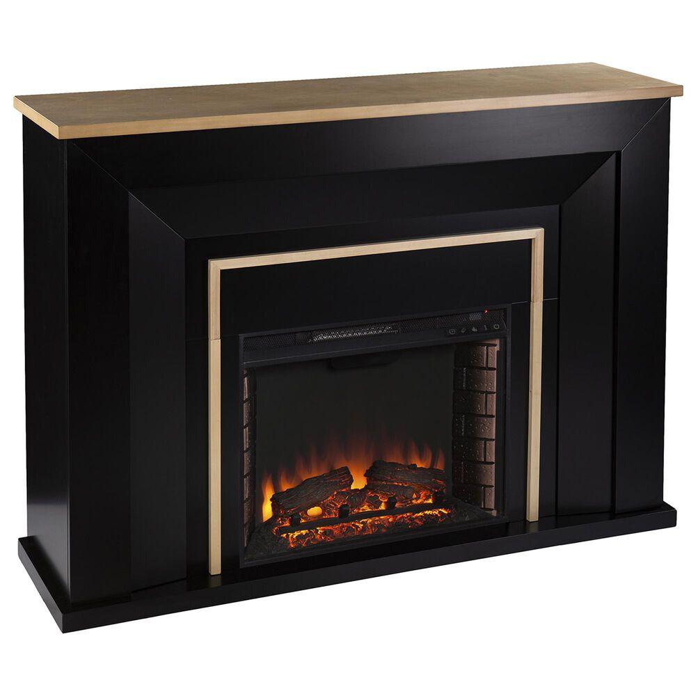 Southern Enterprises Cardington Electric Fireplace in Black/Natural, , large