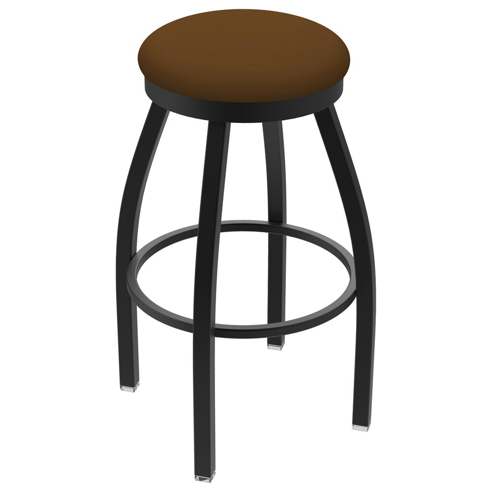"""Holland Bar Stool 802 Misha 25"""" Swivel Counter Stool with Black Wrinkle and Canter Thatch Seat, , large"""