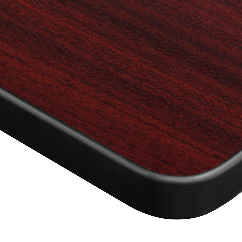 "Regency Global Sourcing Kobe 72"" x 30"" Mobile Training Table in Mahogany/Black, , large"