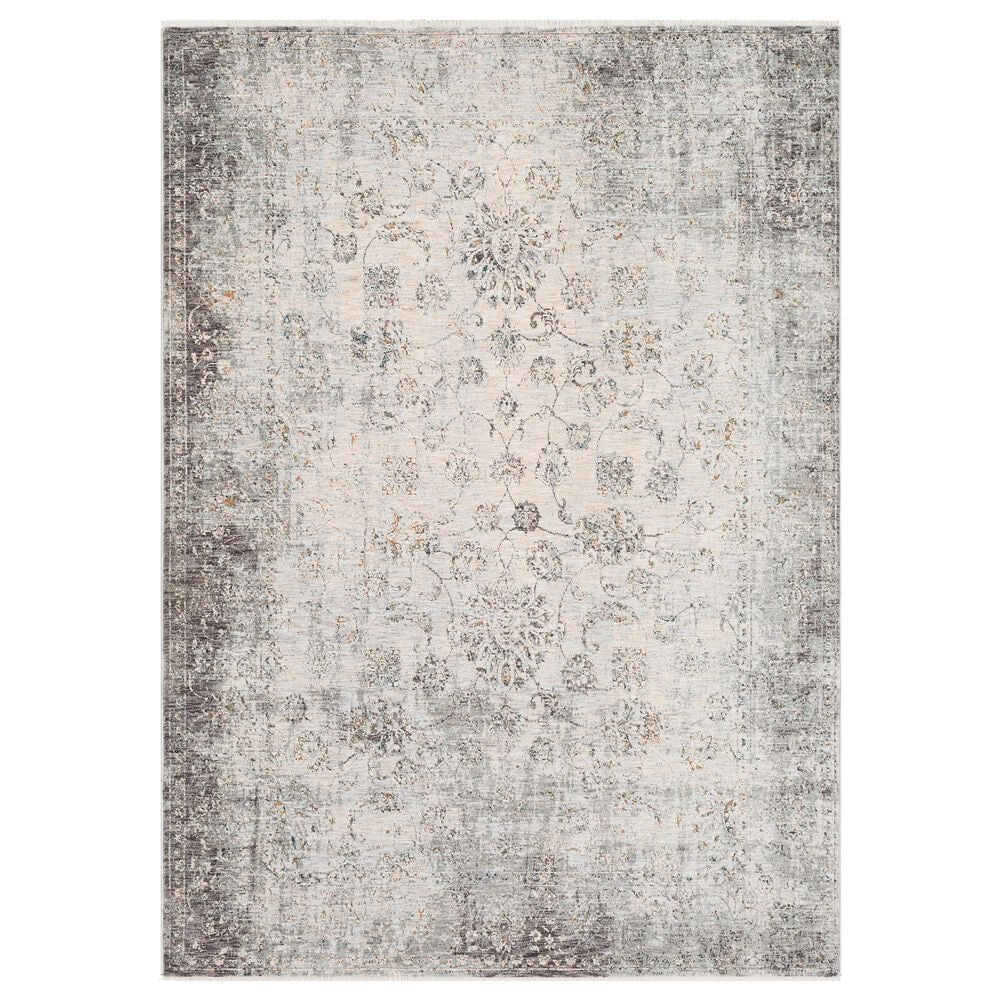 """Surya Presidential PDT-2310 3""""3"""" x 5"""" Charcoal, Ivory and Blue Area Rug, , large"""
