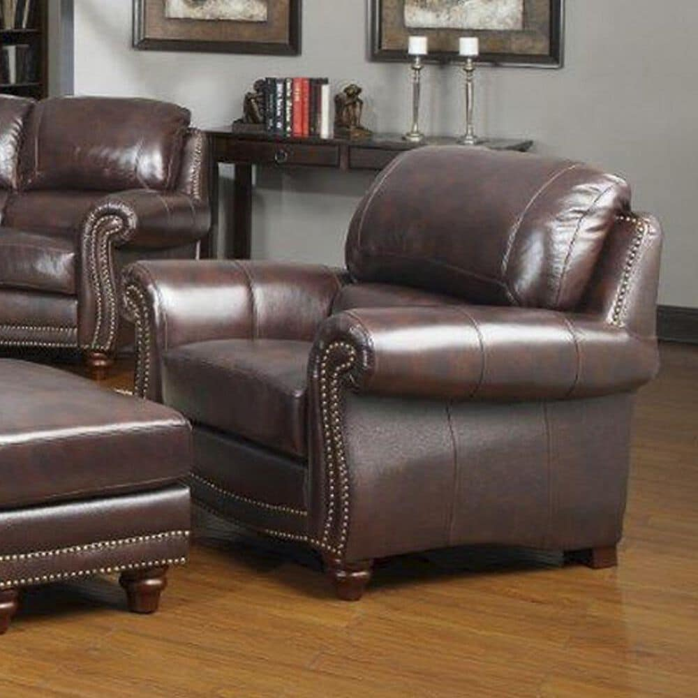 Nineteen37 James Leather Chair in Tobacco, , large