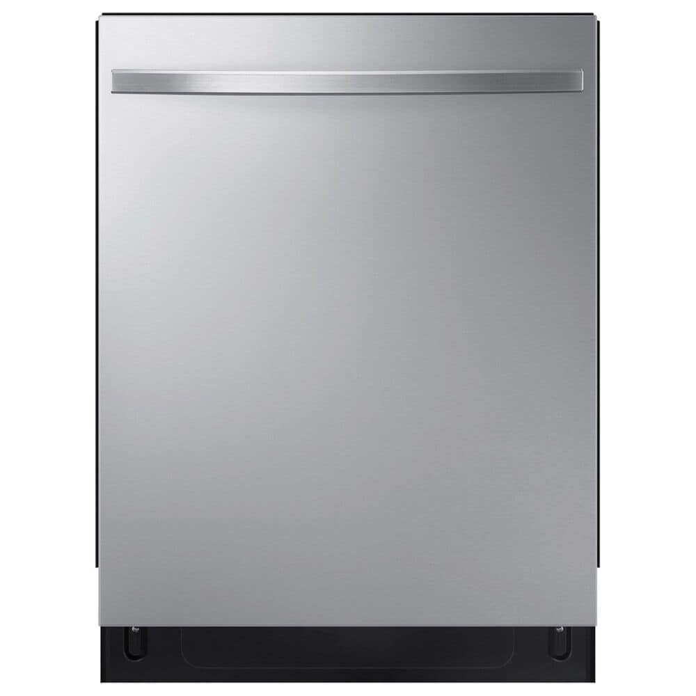 Samsung 4-Piece Kitchen Package with 26.7 Cu. Ft. Side-by-Side Refrigerator and Bar Handle Dishwasher in Stainless Steel, , large