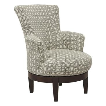 Best Home Furnishings Justine Swivel Chair in Graphite, , large