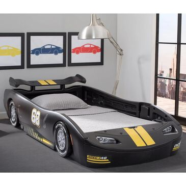 Delta Turbo Twin Race Car Bed in Black, , large