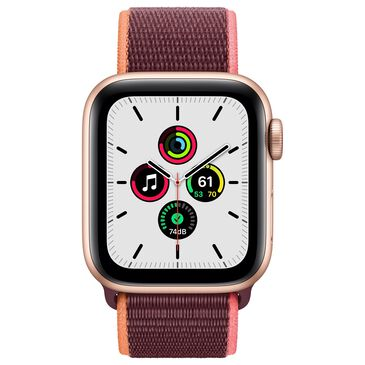 Apple Watch SE GPS + Cellular 40mm with Plum Sport Loop in Gold with AppleCare+, , large