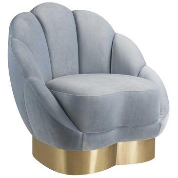 Tov Furniture Bloom Velvet Chair in Sea Blue, , large