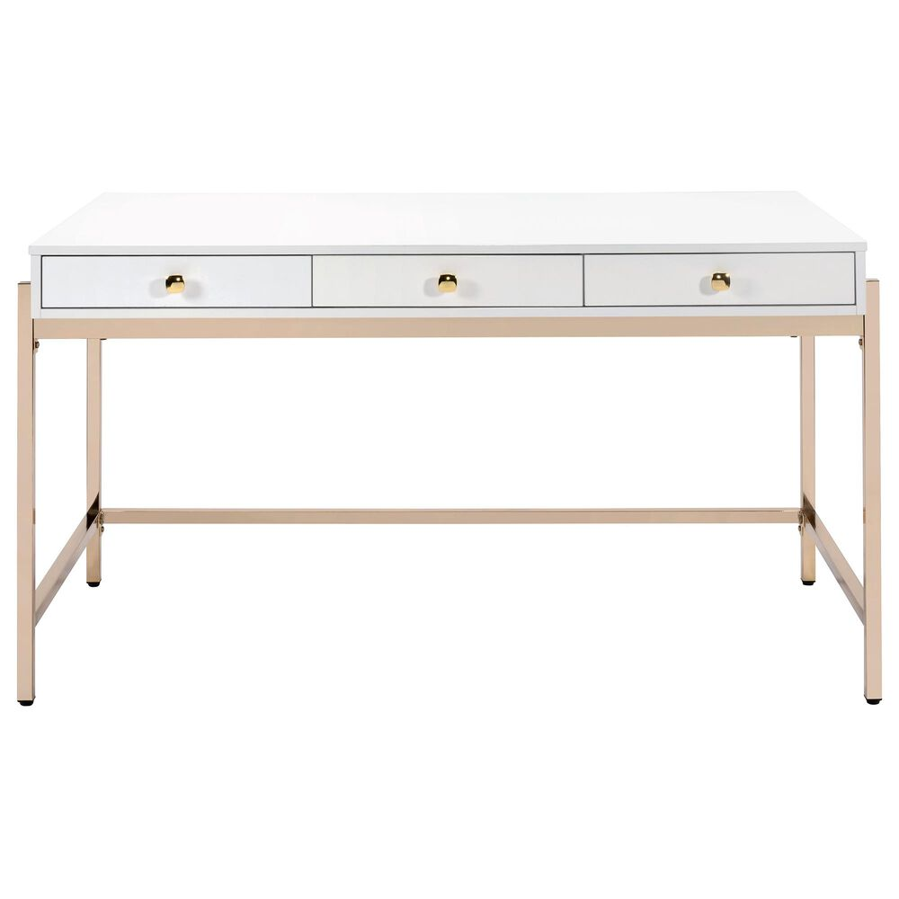 Gunnison Co. Ottey Desk in White and Gold, , large
