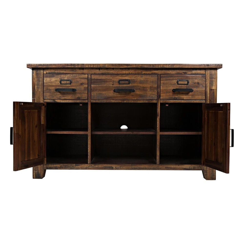 """Waltham Cannon Valley 50"""" Media Unit in Brown, , large"""