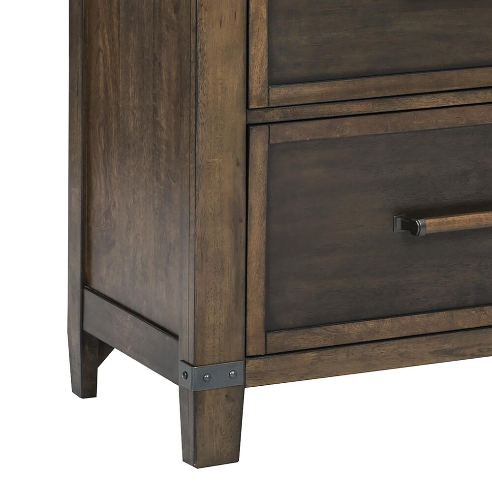 Signature Design by Ashley Wyattfield 6 Drawer Dresser in Walnut Brown and Dark Burnt, , large