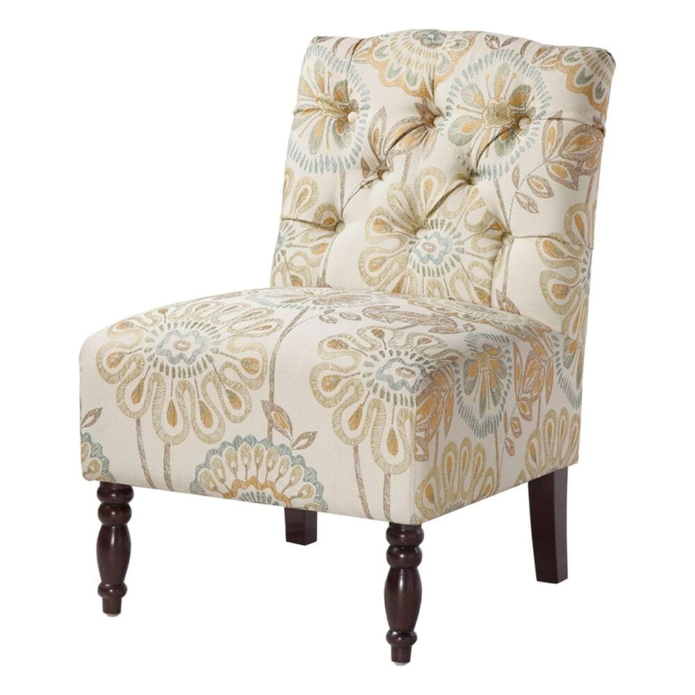 Hampton Park Madison Park Tufted Armless Chair in Multi, , large