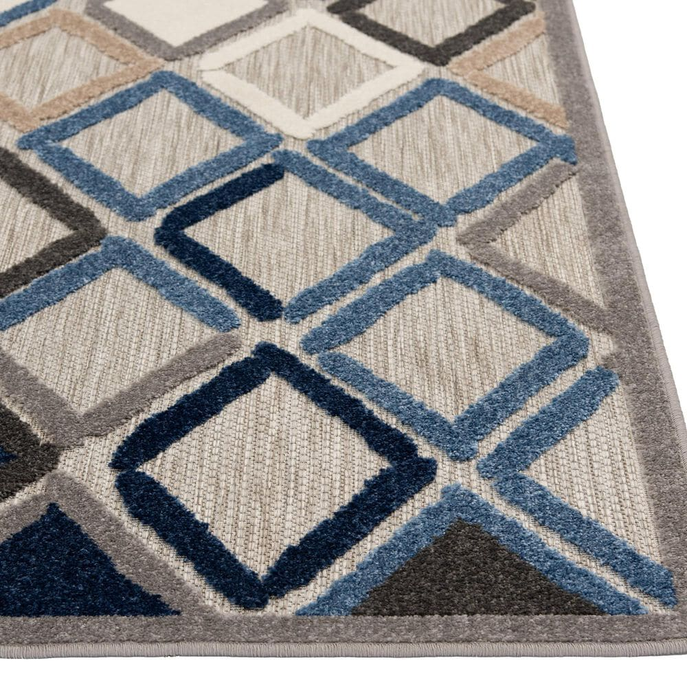 Central Oriental Fontana Parlan 1656.61 5' x 7' Gray and Blue Area Rug, , large