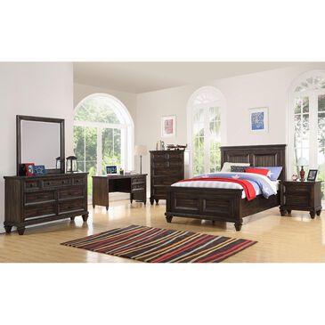 New Heritage Design Sevllia 5 Piece Full Bedroom Set in Distressed Walnut, , large