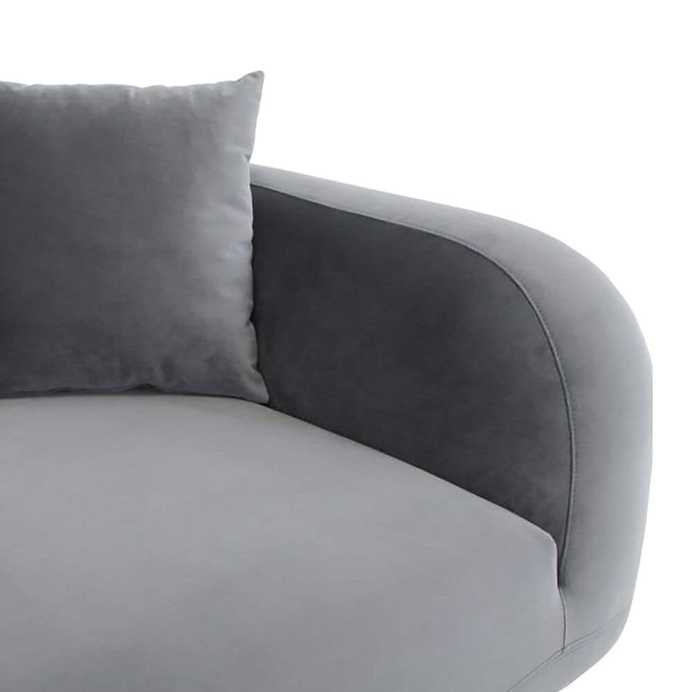 Moe's Home Collection Deleuze Chaise in Anthracite Gray, , large