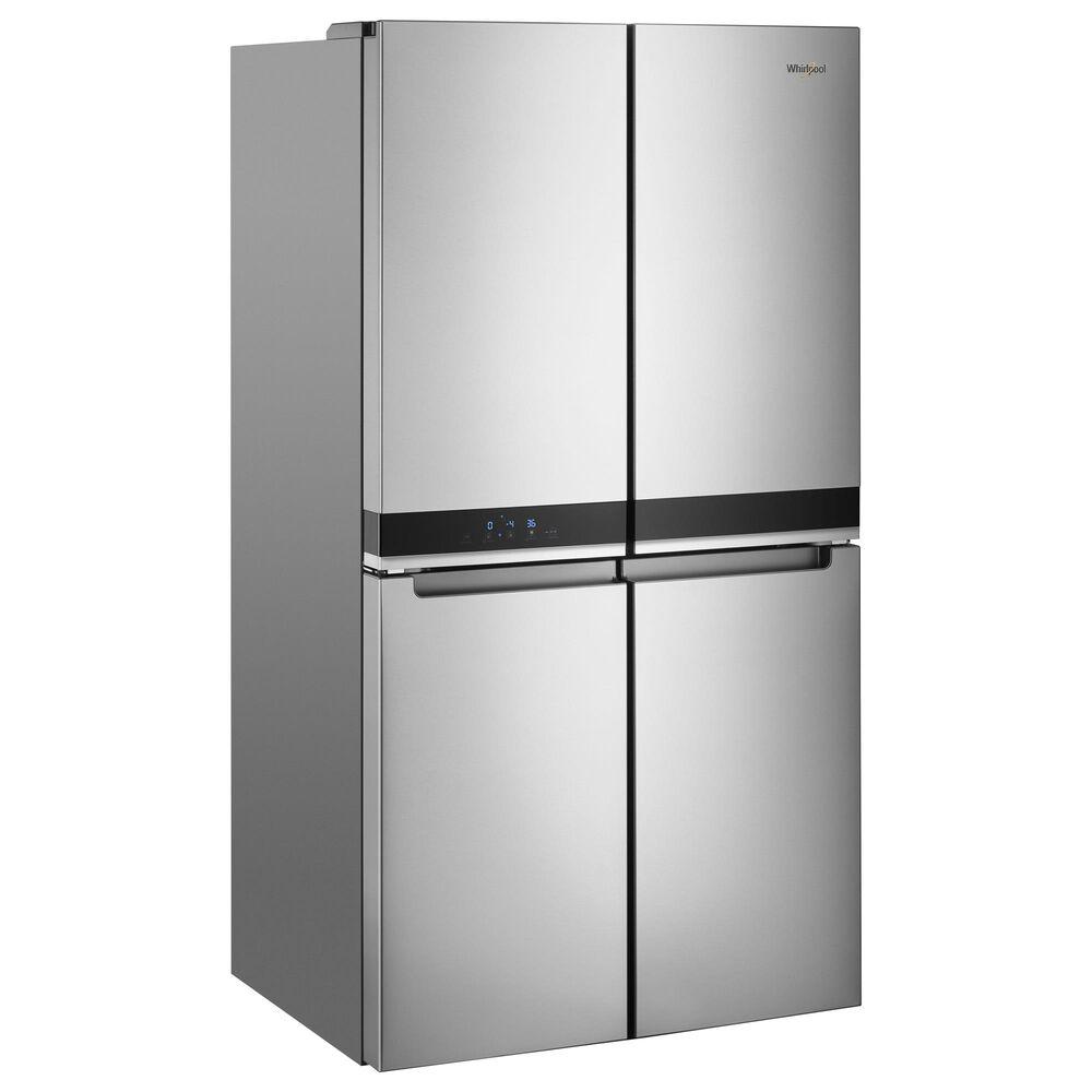 """Whirlpool 36"""" 4-Door French Door Refrigerator in Fingerprint Resistant Metallic Steel, , large"""