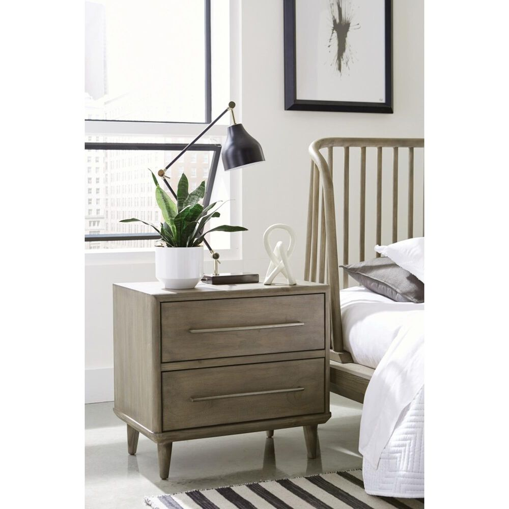 Urban Home Spindle 2 Drawer Nightstand in Sandstone, , large