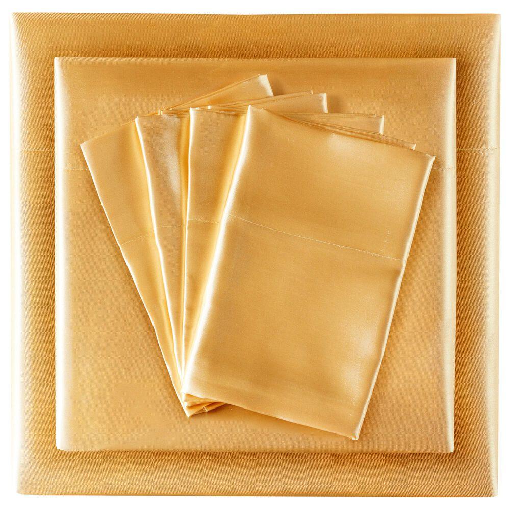 Hampton Park Satin 6-Piece King Sheet Set in Gold, , large