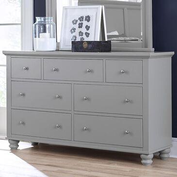 Riva Ridge Cambridge 7 Drawer Double Dresser in Gray, , large