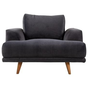 Urban Chic Chair in Charcoal Gray Velvet, , large