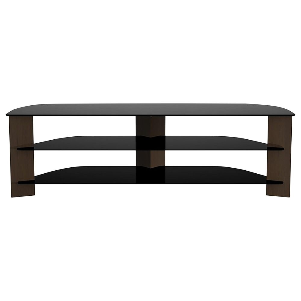 "AVF Group Varano 70"" Corner TV Stand in Walnut and Black, , large"