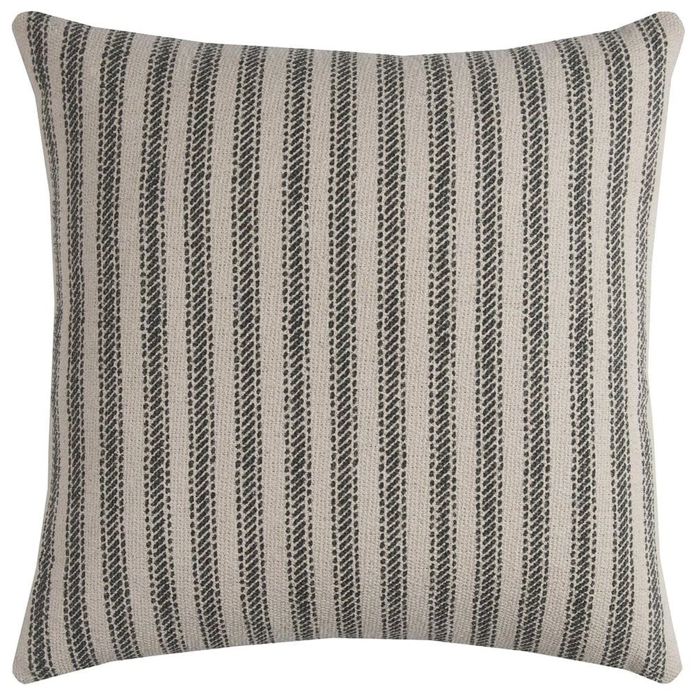 """Rizzy Home 20"""" x 20"""" Pillow Cover in Tan with Gray Stripes, , large"""
