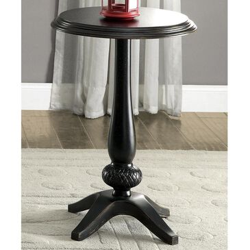 Furniture of America Winton Curved Round Accent Table in Antique Black, , large