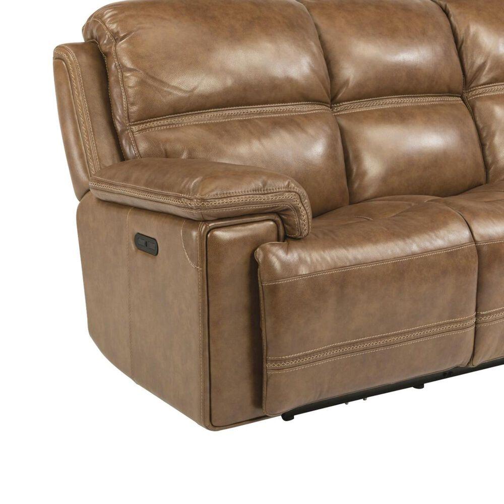 Flexsteel Fenwick Power Sofa with Headrest in Light Brown, , large