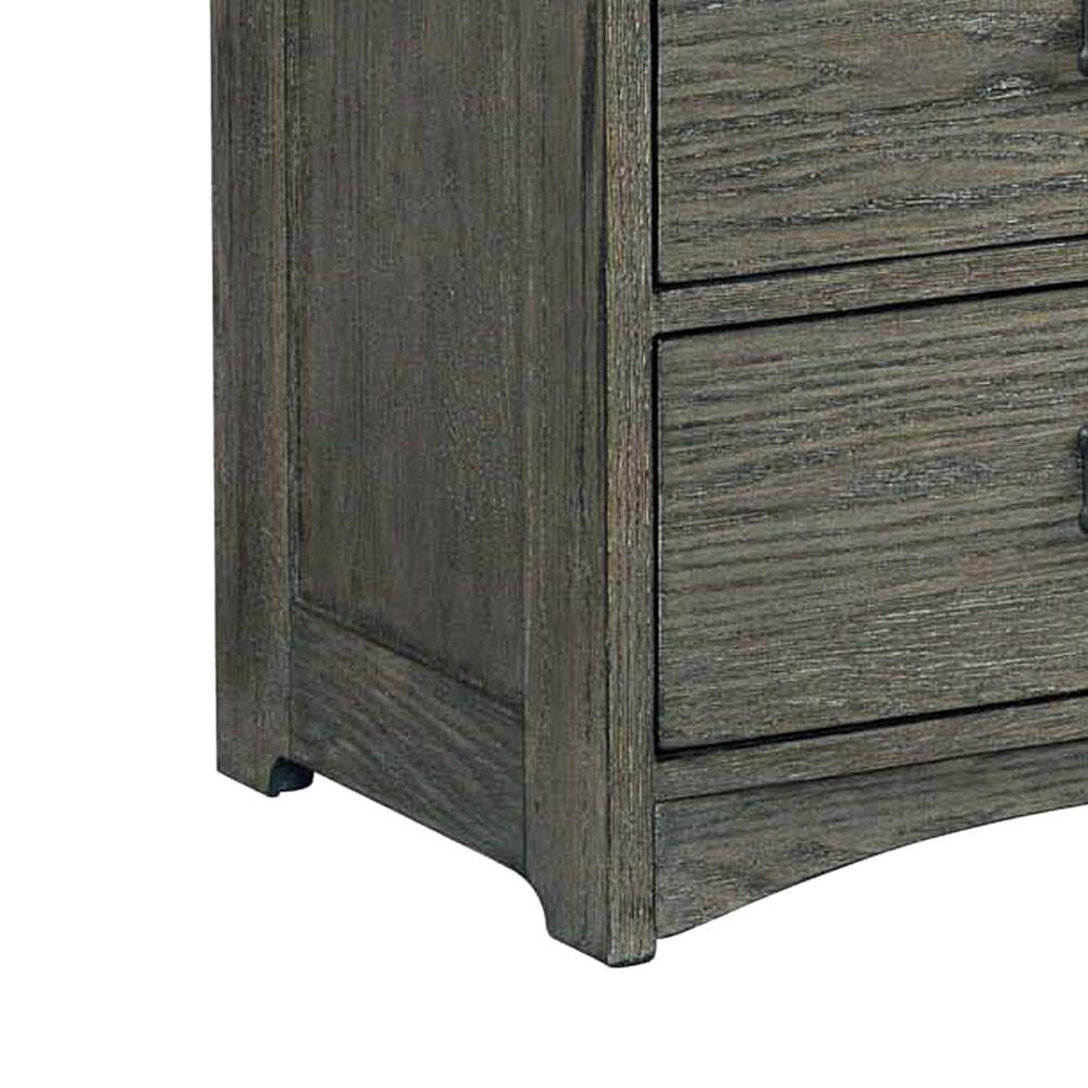 Hawthorne Furniture Oak Park 3 Drawer Nightstand in Pewter, , large