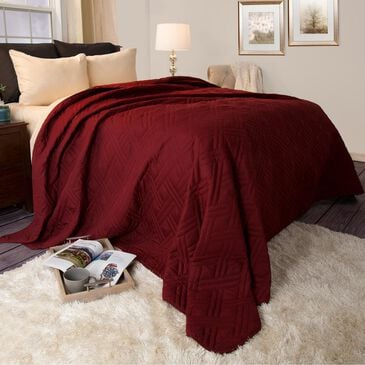 Timberlake Full/Queen Bed Quilt in Burgundy, , large