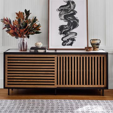 Four Hands Fallon Haverton Sideboard  in Warm Natural Oak and Marble, , large