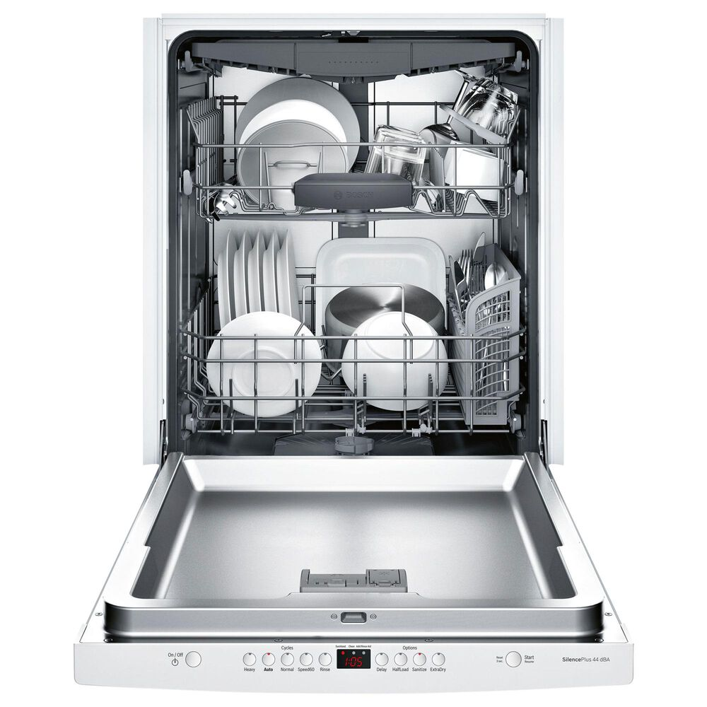 "Bosch 300 Series 24"" Scoop Handle Dishwasher in White, , large"
