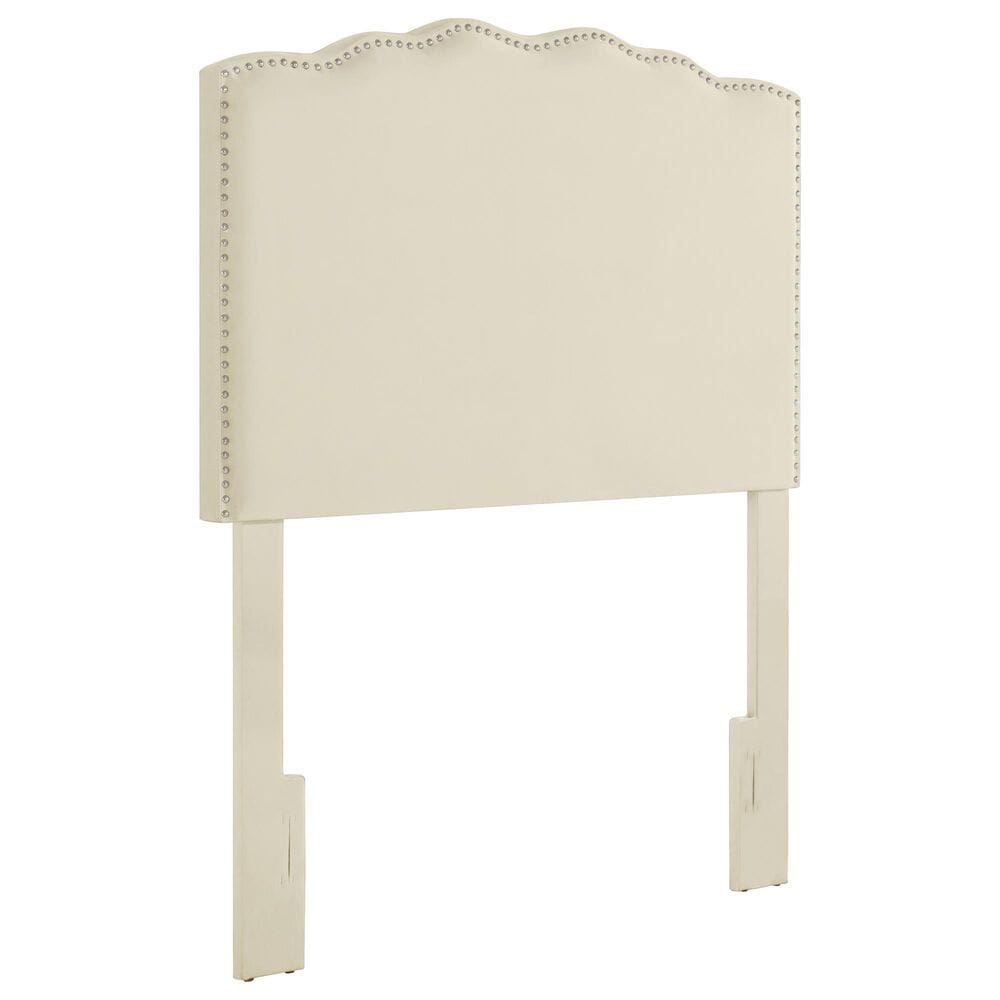 Accentric Approach Twin Upholstered Headboard in Cream, , large