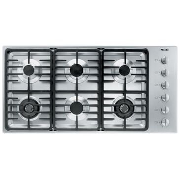 """Miele 42"""" Stainless Steel Gas Cooktop with 6 Sealed Burners , , large"""