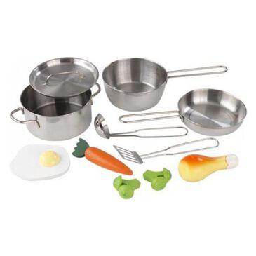 Kidkraft Deluxe 11-Piece Cookware Set, , large