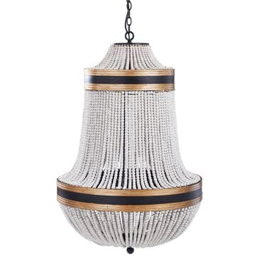 Flair Industries Porfino Chandelier in Gold and Black, , large