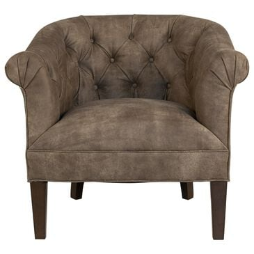 Huntington House Accent Chair in Mushroom Leather, , large