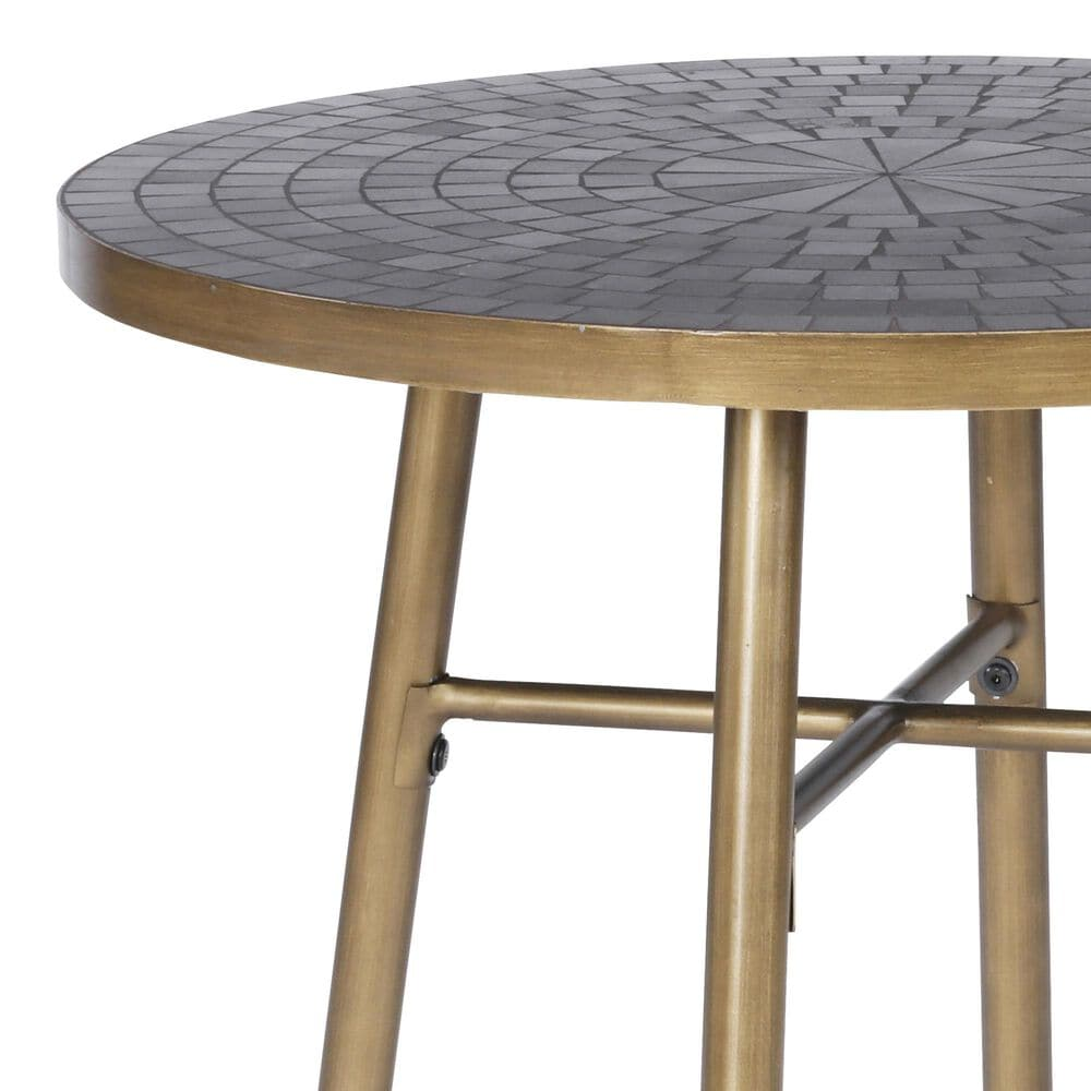 Home Styles Panama 27.5 in Bistro Table in Black, , large
