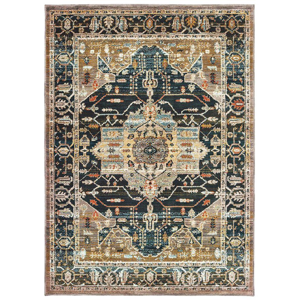 "Oriental Weavers Sedona 9592B 1""10"" x 3"" Blue Runner, , large"