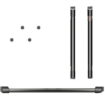 Cafe Handle and Knob Kit for Double Wall Oven in Brushed Black, , large