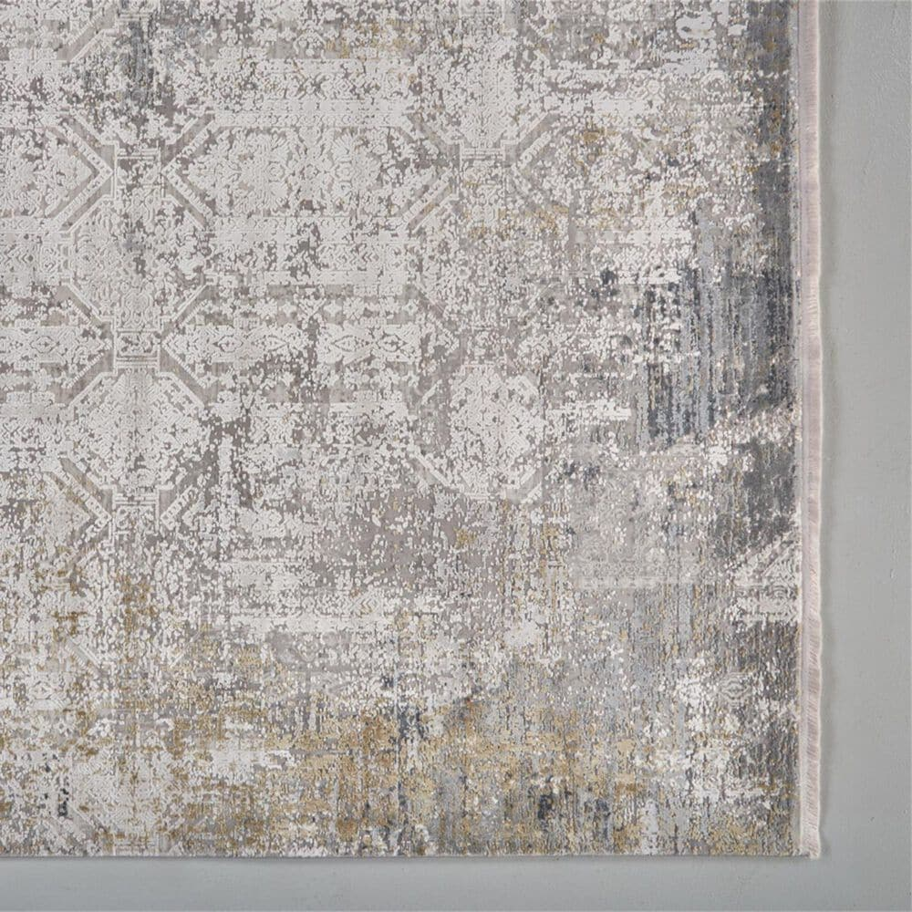 """Feizy Rugs Cadiz 3892F 6'6"""" x 9'6"""" Light Gray and Ivory Area Rug, , large"""