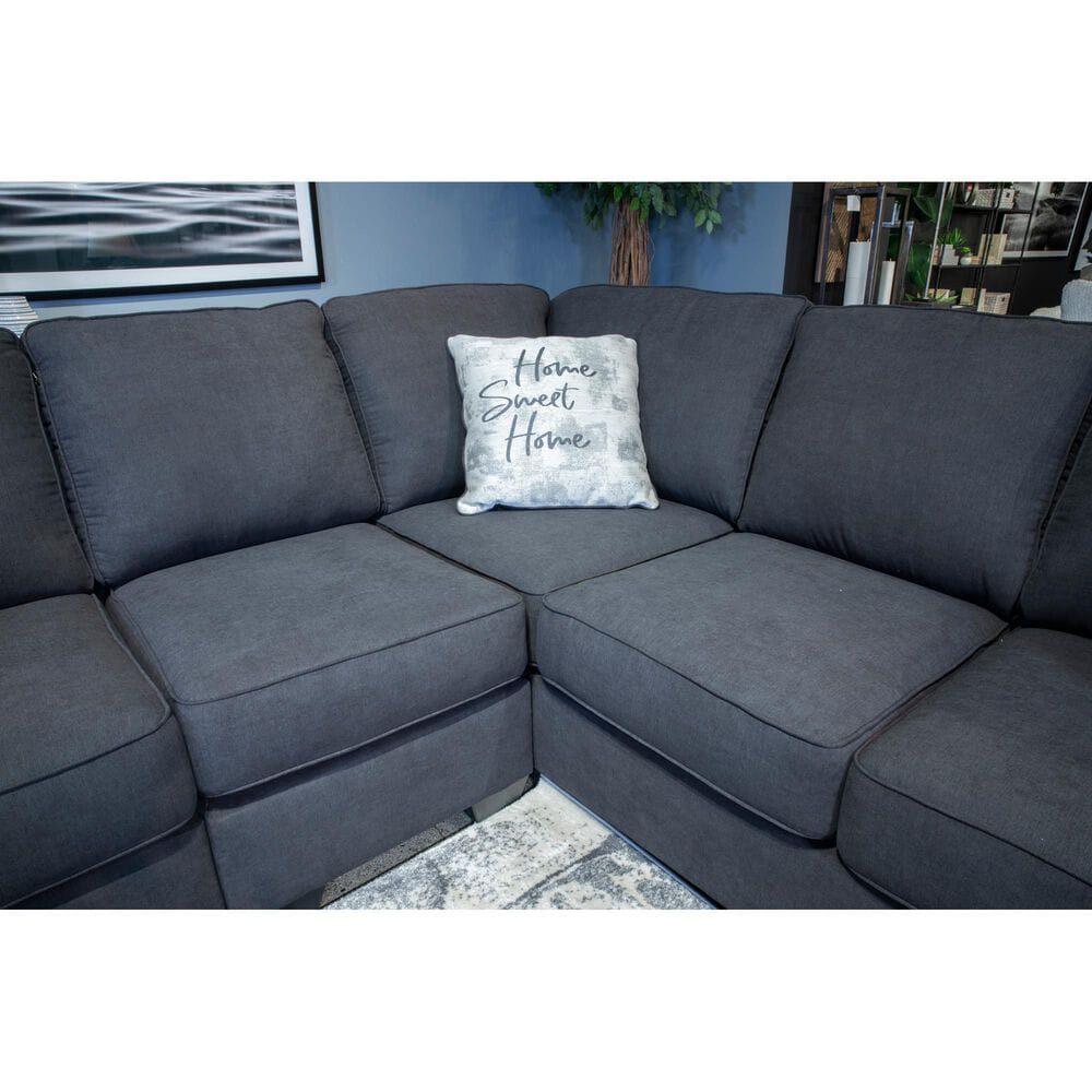 Signature Design by Ashley Lucina Stationary 3-Piece Left Facing Sectional in Charcoal, , large