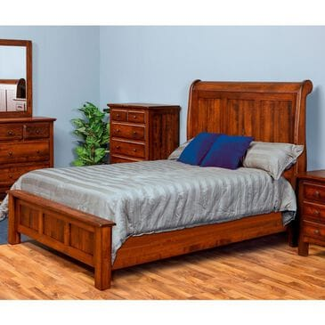 Daniel's Amish Collection Lewiston Queen Sleigh Bed in Barnwood, , large