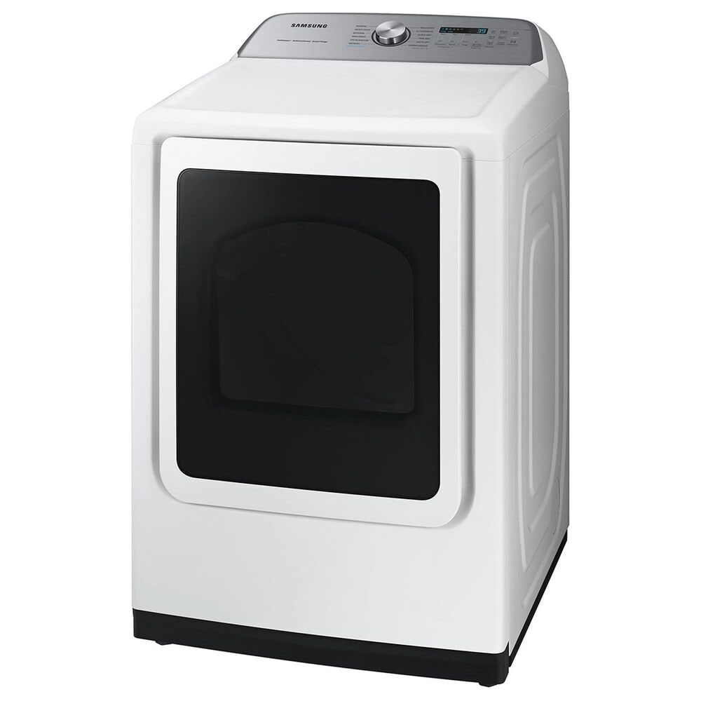 Samsung 5.1 Cu. Ft. Smart Top Load Agitator Washer and 7.4 Cu. Ft. Gas Dryer in White, , large