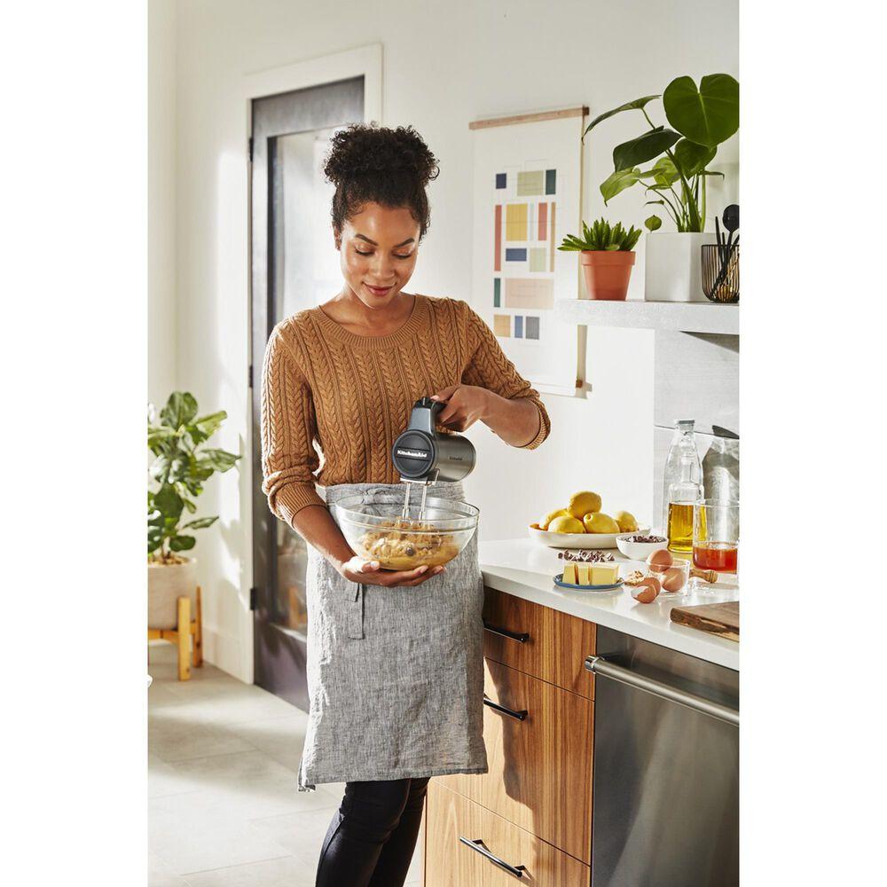 KitchenAid Cordless 7 Speeds Hand Mixer in Matte Black, , large