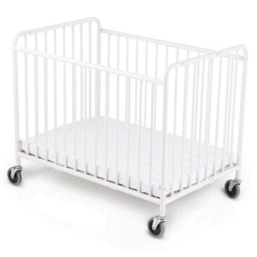 """Child Craft StowAway Storable Steel Crib with 4"""" Casters and Mattress, , large"""
