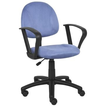 Regal Co. Boss Deluxe Posture Chair with Loop Arms in Blue, , large