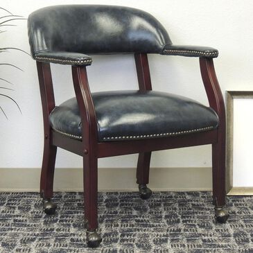 Regal Co. Boss Captain's Chair in Blue, , large
