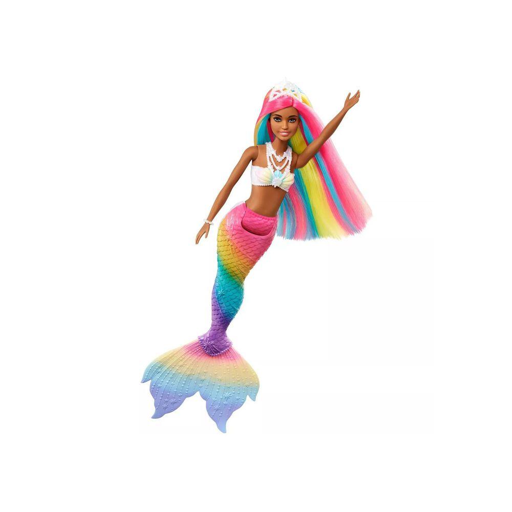 Barbie Dreamtopia Rainbow Magic Mermaid Doll with Brown Eyes, , large